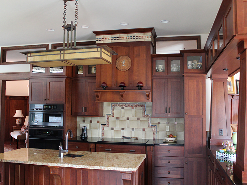 Prairie School Inspired Kitchen